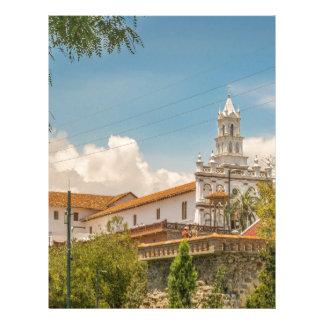 Historic Center of Cuenca, Ecuador Letterhead Template