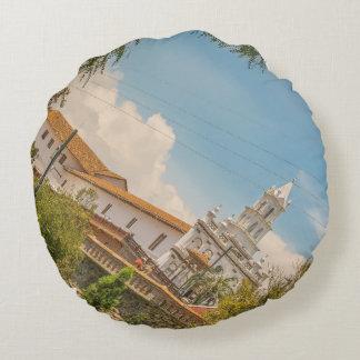 Historic Center of Cuenca, Ecuador Round Pillow