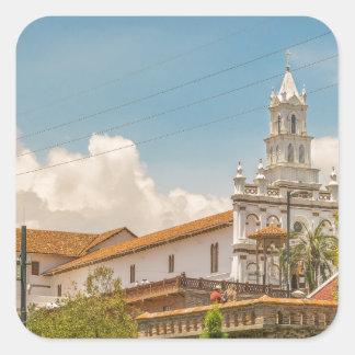 Historic Center of Cuenca, Ecuador Square Sticker