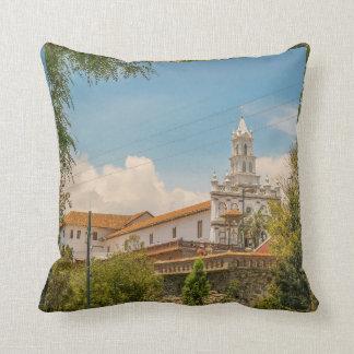 Historic Center of Cuenca, Ecuador Throw Pillow