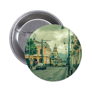 Historic Center Urban Scene at Riobamba City 2 Inch Round Button