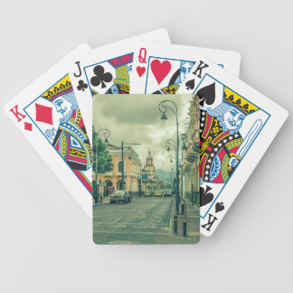 Historic Center Urban Scene at Riobamba City Bicycle Playing Cards