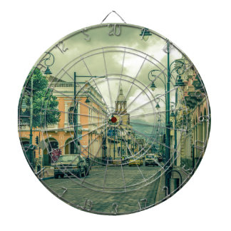 Historic Center Urban Scene at Riobamba City Dartboard