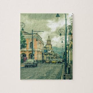 Historic Center Urban Scene at Riobamba City Jigsaw Puzzle