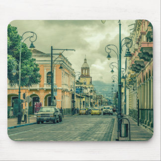 Historic Center Urban Scene at Riobamba City Mouse Pad