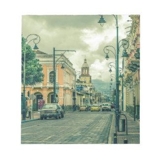Historic Center Urban Scene at Riobamba City Notepad