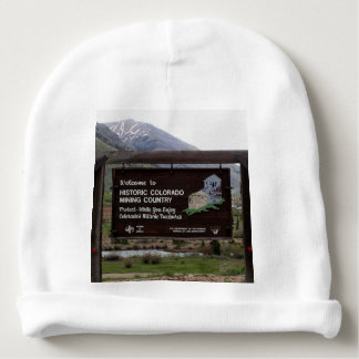Historic Colorado mining country sign Baby Beanie