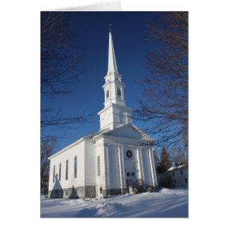 Historic Congregational Church Barre Massachusetts Greeting Card