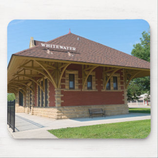 Historic Depot in Whitewater Mouse Pad
