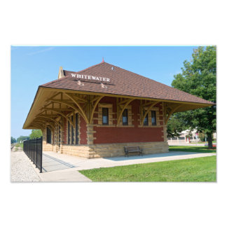 Historic Depot in Whitewater Photo Print