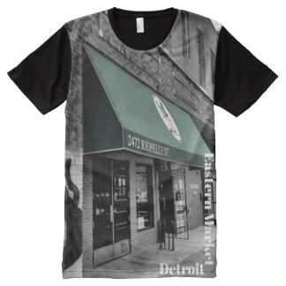 Historic Eastern Market Detroit All-Over-Print T-Shirt