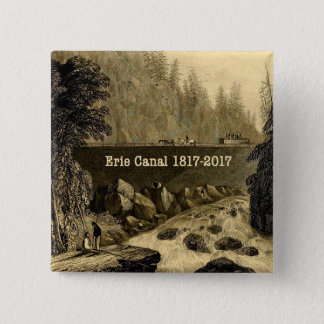 Historic Erie Canal Bicentennial Years 2 Inch Square Button