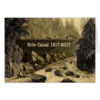 Historic Erie Canal Bicentennial Years Card