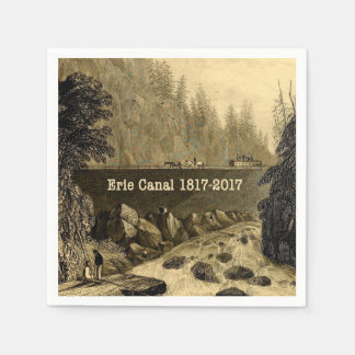 Historic Erie Canal Bicentennial Years Paper Napkins
