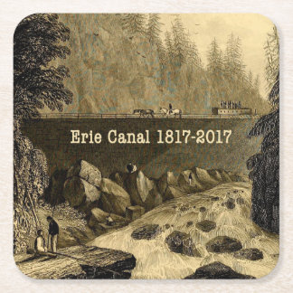 Historic Erie Canal Bicentennial Years Square Paper Coaster
