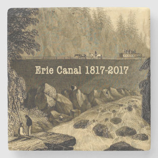 Historic Erie Canal Bicentennial Years Stone Coaster