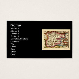 Historic Essex County Map, England Business Card