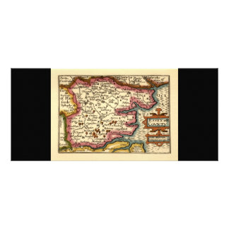 Historic Essex County Map, England Full Colour Rack Card