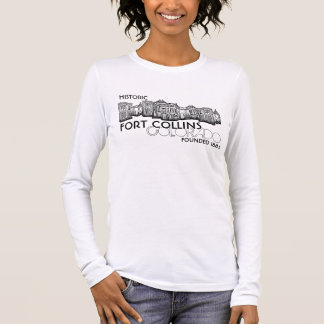 Historic Fort Collins Colorado town ladies shirt