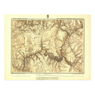Historic Grand Canyon Map - National Archives Postcard