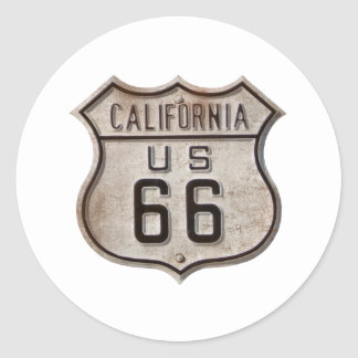 Historic Highway Road Sign Classic Round Sticker
