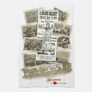 Historic Homer NY Sig Sautelle Circus Towel