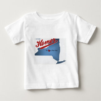 HIstoric Homer: The Heart of NY Baby T-Shirt