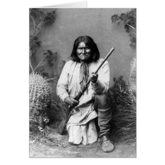 Historic Iconic Native American Indian Geronimo Card