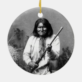 Historic Iconic Native American Indian Geronimo Ceramic Ornament