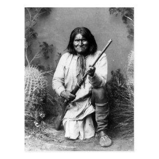 Historic Iconic Native American Indian Geronimo Postcard