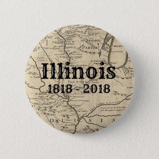 Historic Illinois Bicentennial 2 Inch Round Button