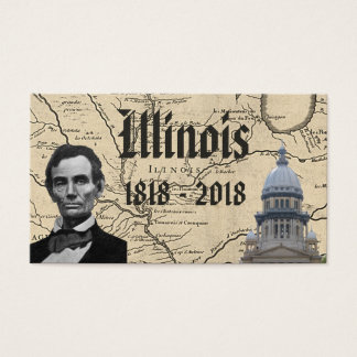 Historic Illinois Bicentennial Business Card