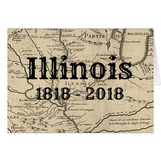 Historic Illinois Bicentennial Card