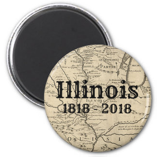 Historic Illinois Bicentennial Magnet