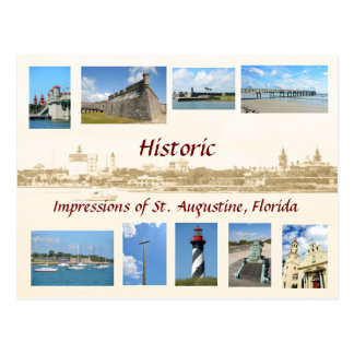 Historic Impressions of St. Augustine, Florida Postcard