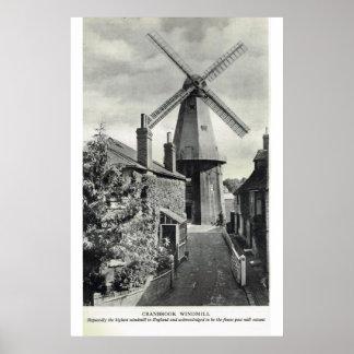 Historic Kent, Cranbrook Windmill Poster