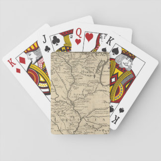Historic llinois Map of 1718 Playing Cards
