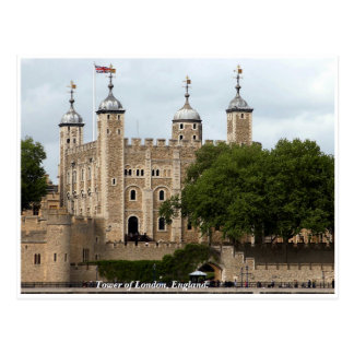 Historic London Tower, England Postcard