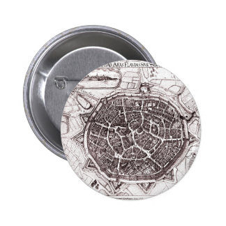 Historic Map Of Nordlingen, Germany In 1651 2 Inch Round Button