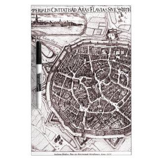 Historic Map Of Nordlingen, Germany In 1651 Dry Erase Whiteboards