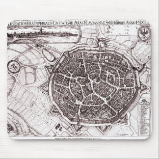 Historic Map Of Nordlingen, Germany In 1651 Mouse Pad