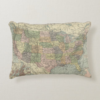 Historic map of the United States 1920 Pillow