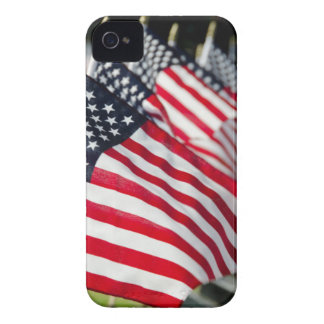 Historic military cemetery with US flags Case-Mate iPhone 4 Cases