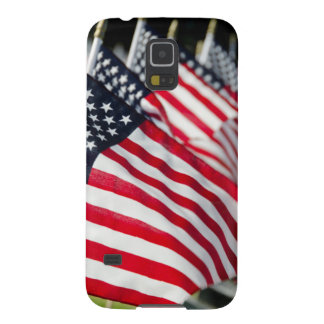 Historic military cemetery with US flags Galaxy S5 Case