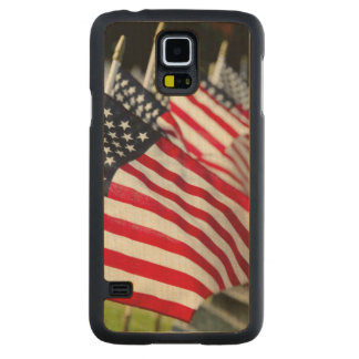 Historic military cemetery with US flags Maple Galaxy S5 Case