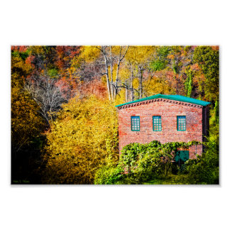 Historic Mill in Roswell Georgia - 10x6 Archival Print