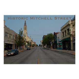 Historic Mitchell Street West View Poster