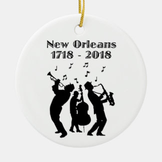 Historic New Orleans Tricentennial Ceramic Ornament