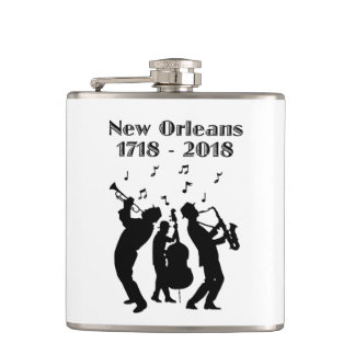Historic New Orleans Tricentennial Hip Flask