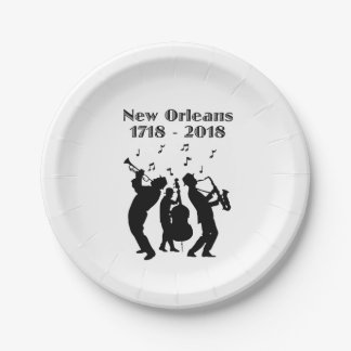 Historic New Orleans Tricentennial Paper Plate